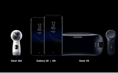 Galaxy Note 8 with Gear and controller